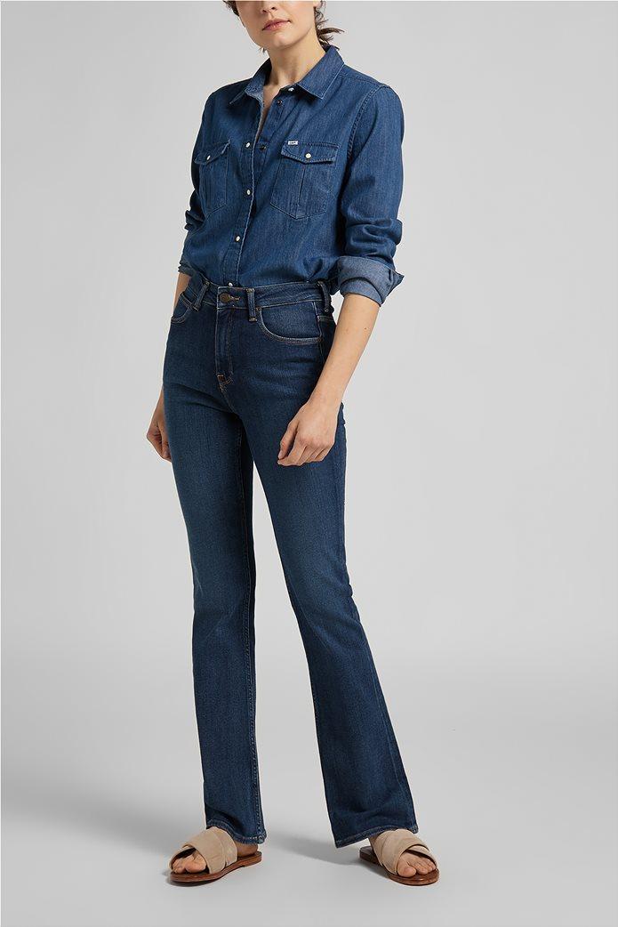 Lee γυναικείο πουκάμισο denim με flap τσέπες 2