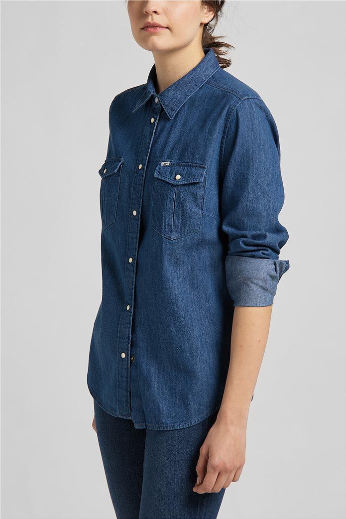 Lee γυναικείο πουκάμισο denim με flap τσέπες 3