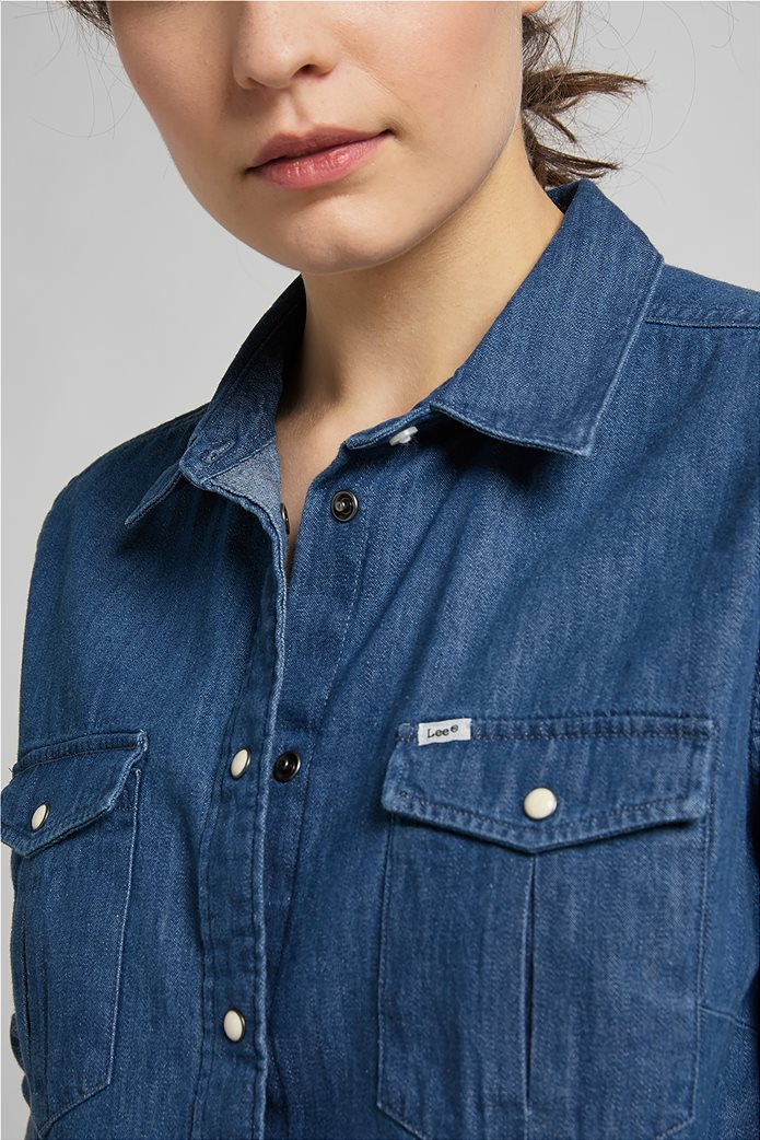 Lee γυναικείο πουκάμισο denim με flap τσέπες 4