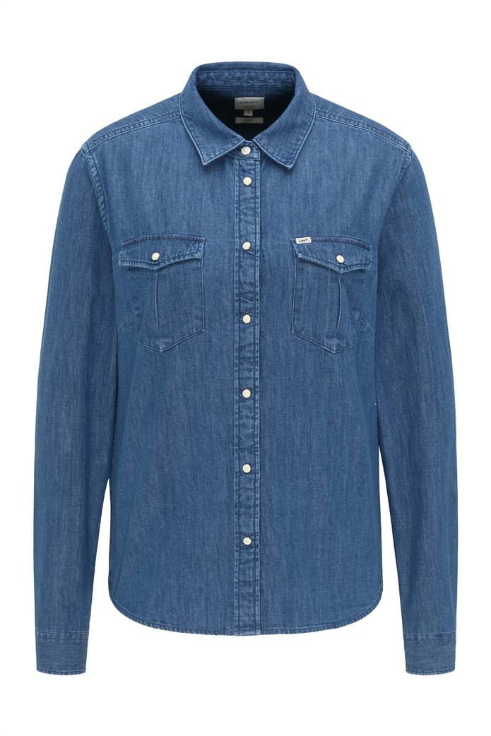 Lee γυναικείο πουκάμισο denim με flap τσέπες 6