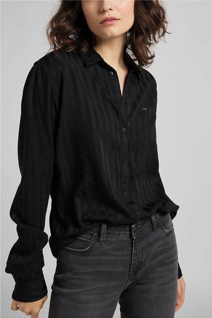 Lee γυναικείο πουκάμισο με ριγέ σχέδιο και απλικέ τσέπη 0