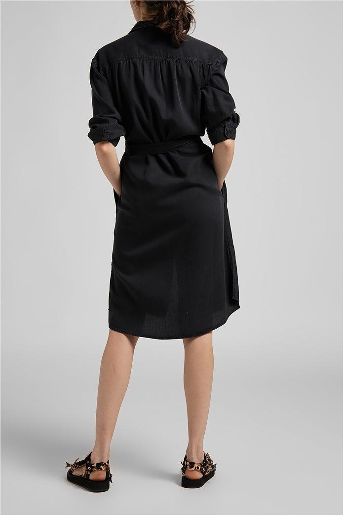 Lee γυναικείο denim φόρεμα ασύμμετρο με ζώνη στη μέση 1