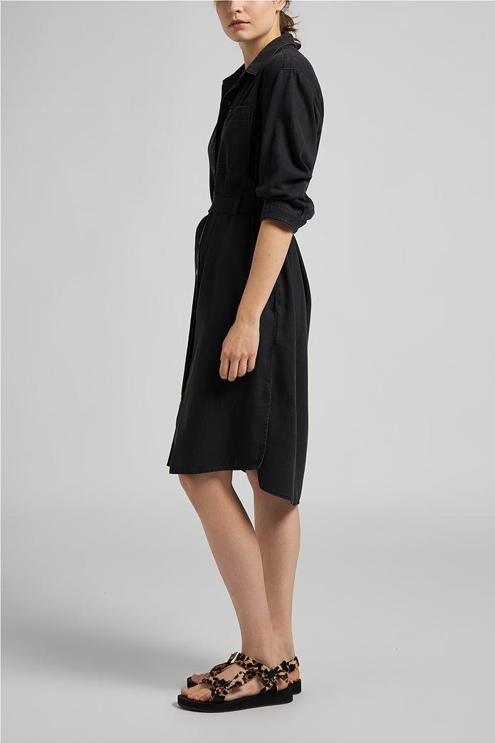 Lee γυναικείο denim φόρεμα ασύμμετρο με ζώνη στη μέση 3