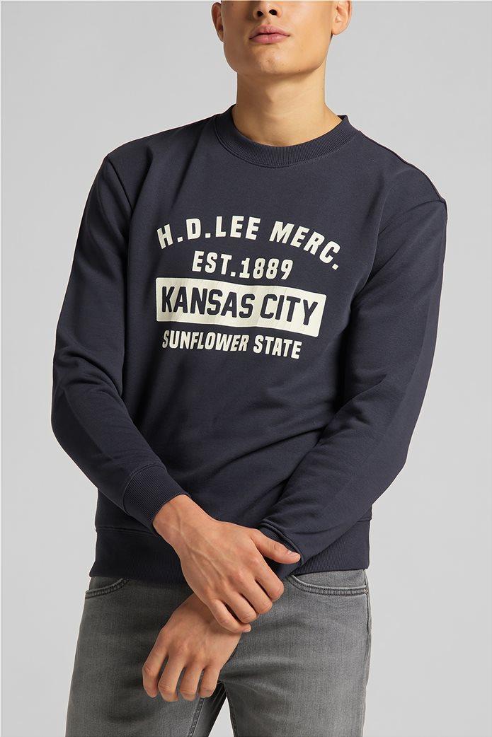 Lee ανδρική φούτερ μπλούζα με letter print ''Mercantile'' 0