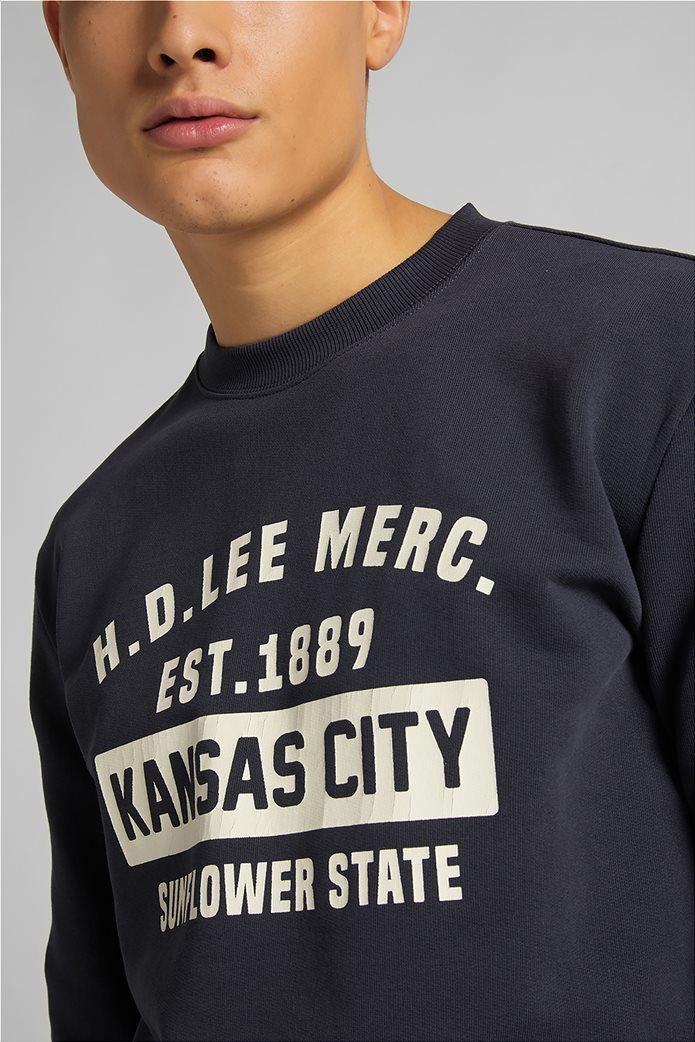 Lee ανδρική φούτερ μπλούζα με letter print ''Mercantile'' 4