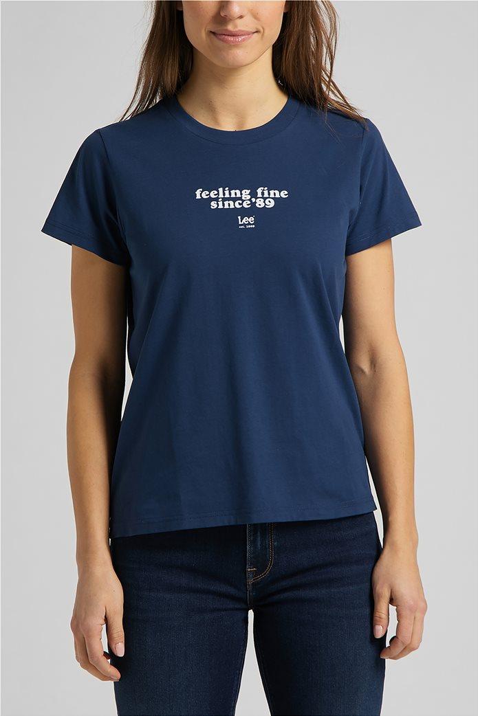 Lee γυναικείο T-Shirt με letter print 0
