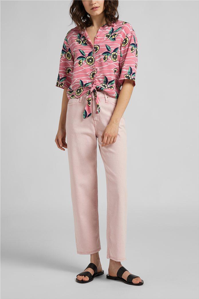 Lee γυναικείο πουκάμισο με lemon print Ροζ 1