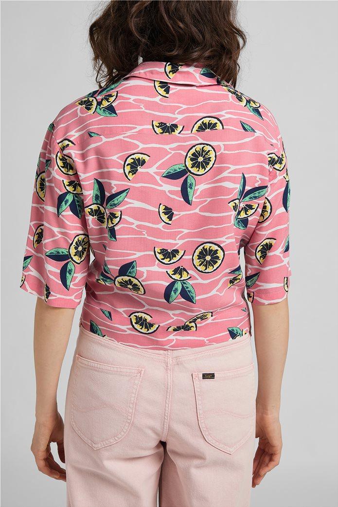 Lee γυναικείο πουκάμισο με lemon print Ροζ 2