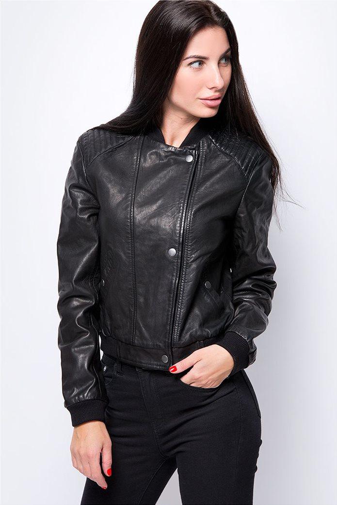 Wrangler γυναικείο δερμάτινο Leather Jacket Black 0