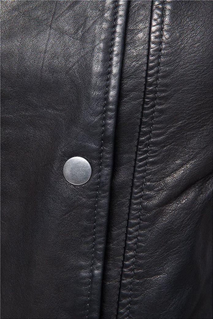 Wrangler γυναικείο δερμάτινο Leather Jacket Black 3