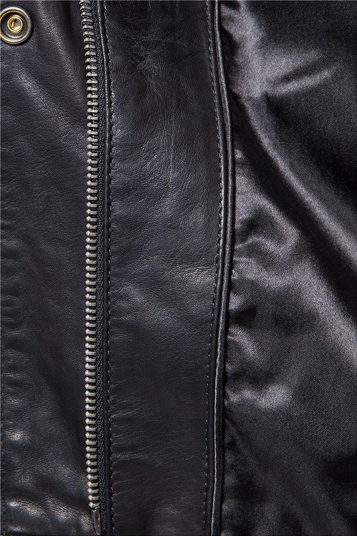 Wrangler γυναικείο δερμάτινο Leather Jacket Black 4