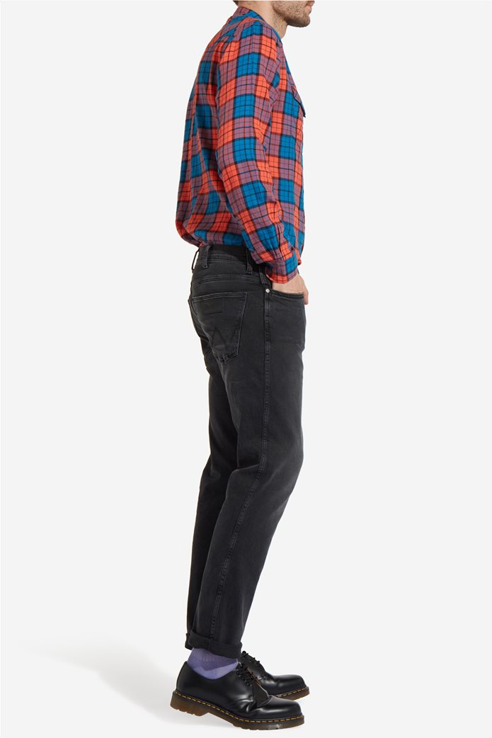 Wrangler ανδρικό τζην παντελόνι Spencer Black Steam 1
