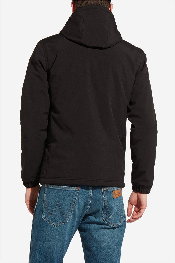 Wrangler ανδρικό μπουφάν καπιτονέ Tech Hoodie Black 2