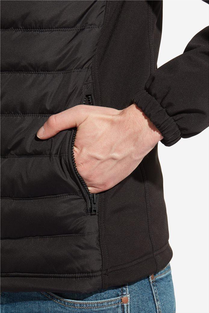 Wrangler ανδρικό μπουφάν καπιτονέ Tech Hoodie Black 4