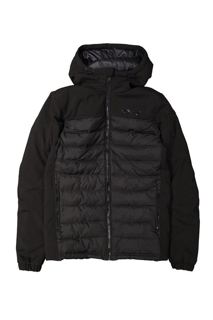 Wrangler ανδρικό μπουφάν καπιτονέ Tech Hoodie Black 5
