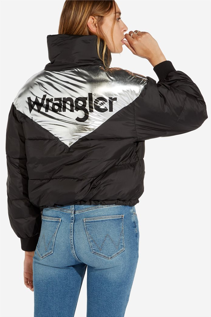 Wrangler γυναικείο μπουφάν καπιτονέ Metallic Puffer 2