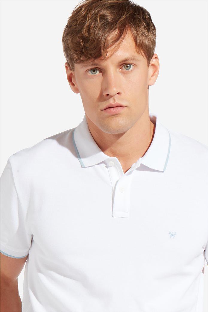 Wrangler ανδρική μπλούζα PoloWhite 4