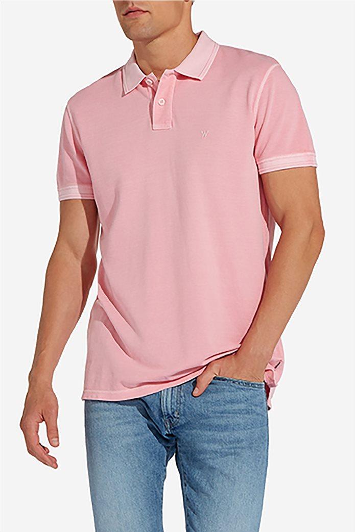 Wrangler ανδρική μπλούζα polo Overdye 4