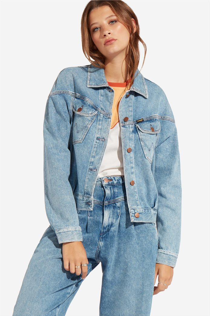 Wrangler γυναικείο τζην μπουφάν 80's Western Jacket Mama Rock 0