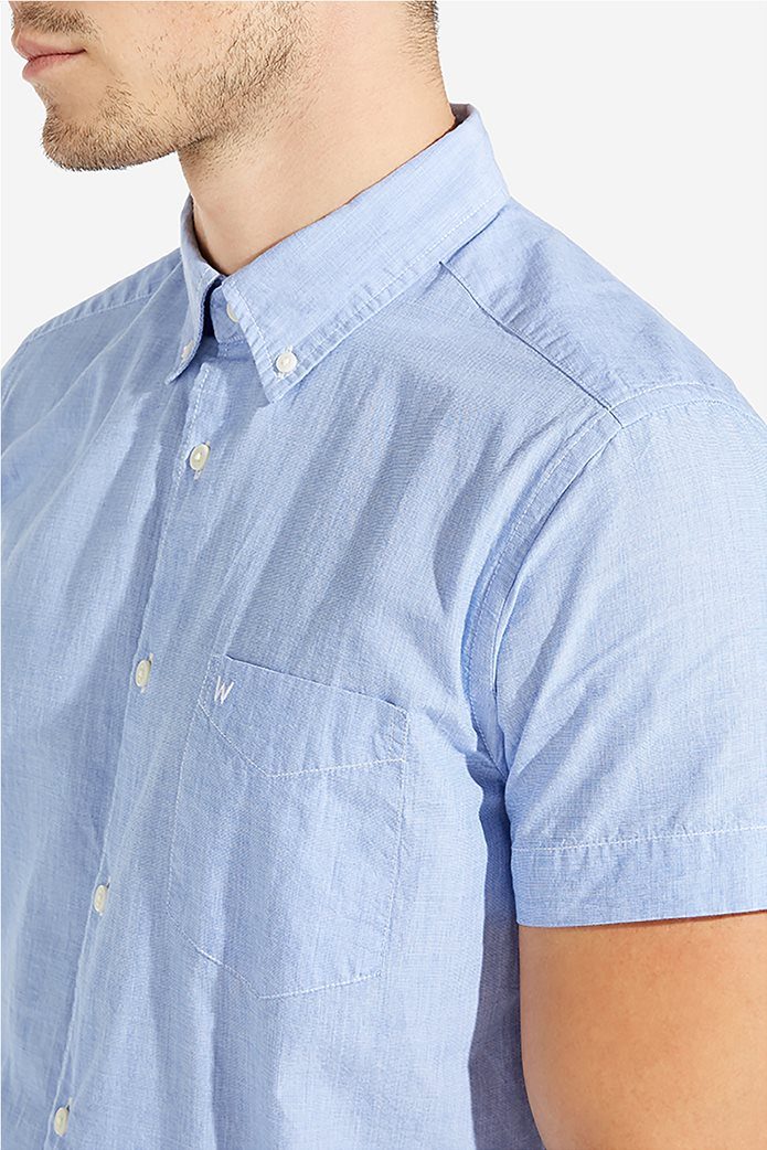 e49375ca4e42 WRANGLER | Wrangler ανδρικό κοντομάνικο πουκάμισο Button Down Γαλάζιο |  notos