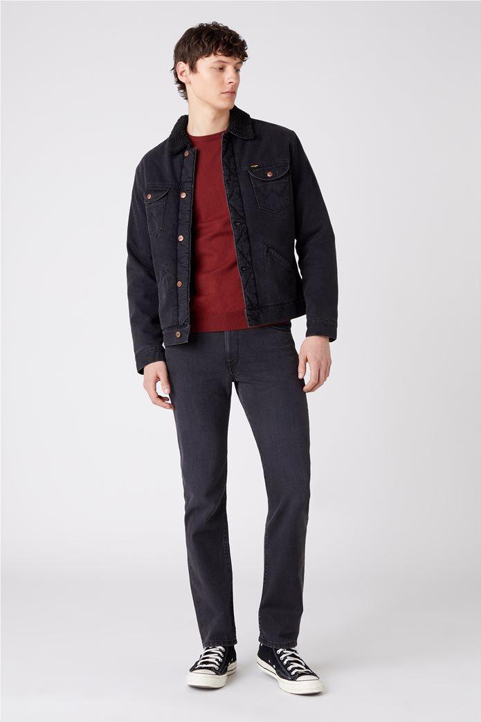 """Wrangler ανδρική πλεκτή μπλούζα μονόχρωμη """"Crew Knit"""" 1"""