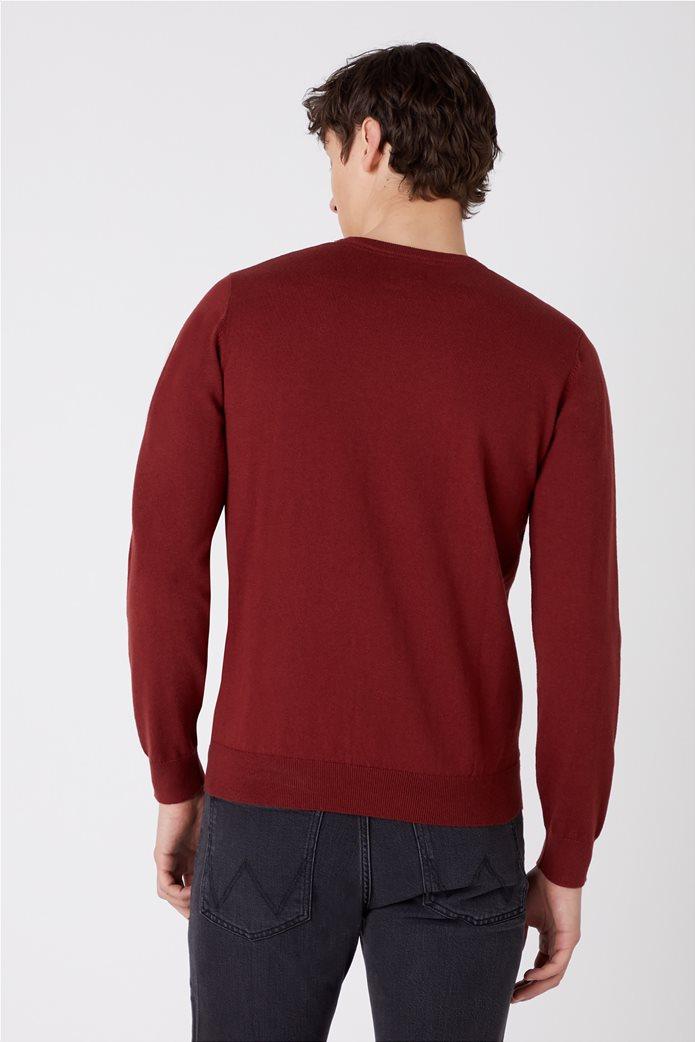 """Wrangler ανδρική πλεκτή μπλούζα μονόχρωμη """"Crew Knit"""" 2"""