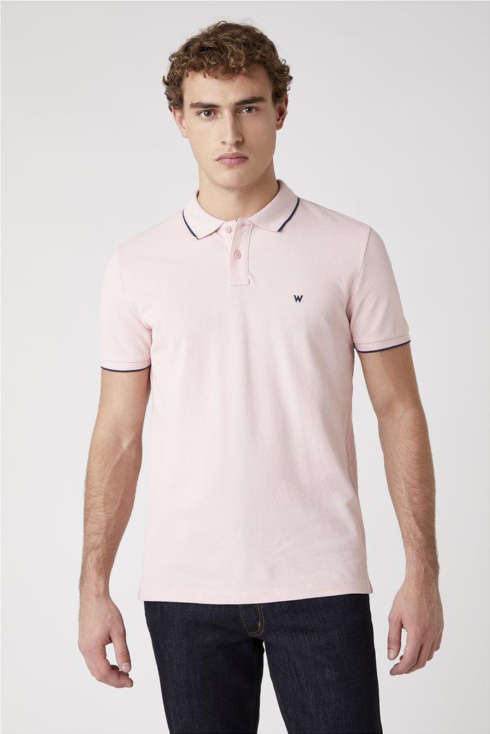 Wrangler ανδρική μπλούζα polo με κεντημένο logo 0