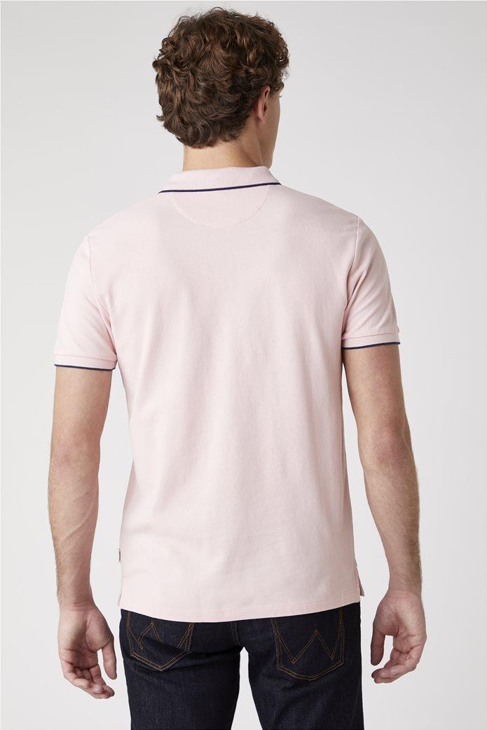 Wrangler ανδρική μπλούζα polo με κεντημένο logo 2