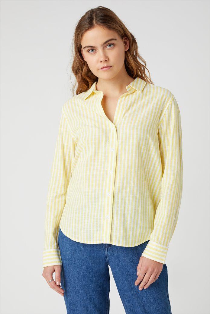 Wrangler γυναικείο πουκάμισο με ριγέ σχέδιο 0