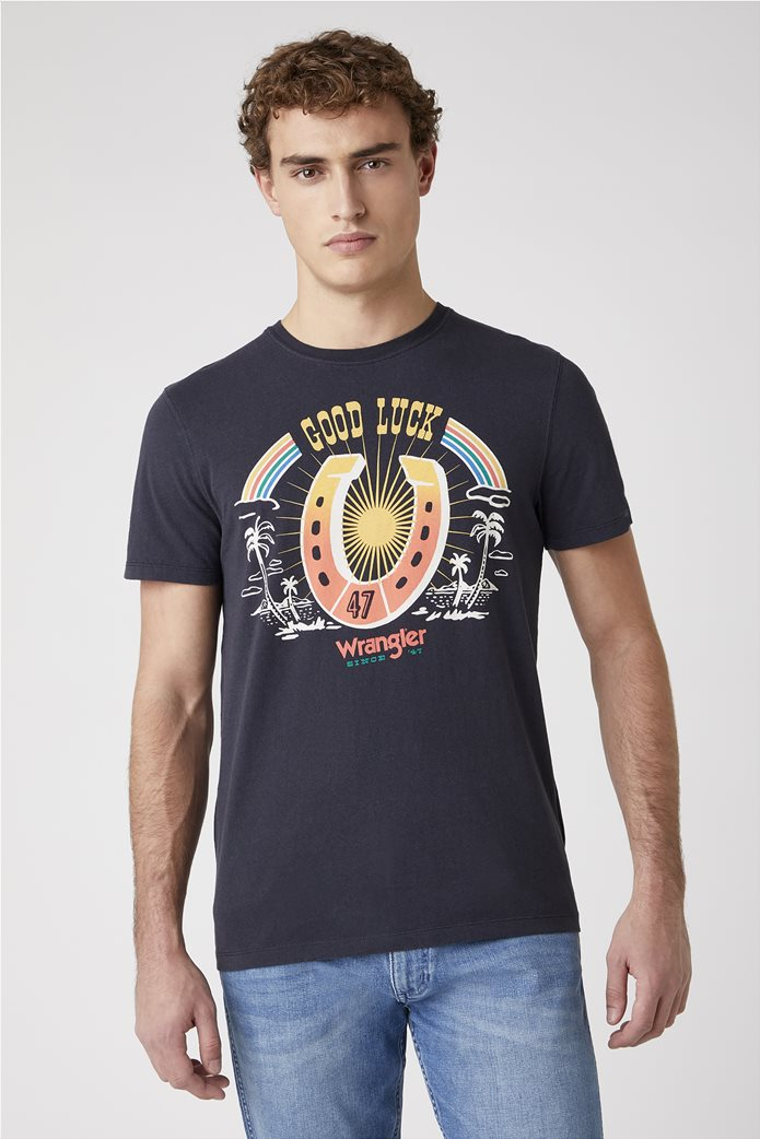 Wrangler ανδρικό T-shirt ''Cowboy'' Μαύρο 0