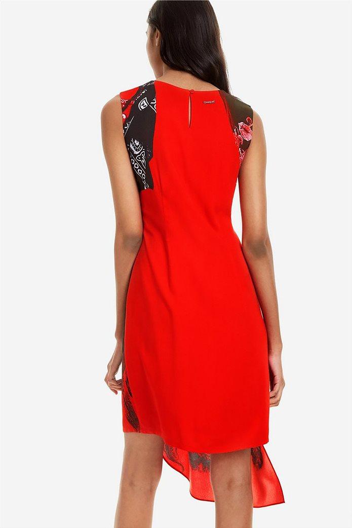 69d88f442f8d Desigual γυναικείο φόρεμα εμπριμέ αμάνικο με ασσύμετρο κόψιμο 5