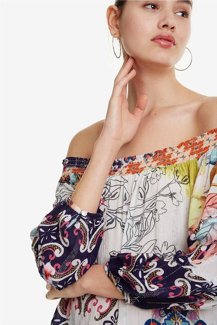 8dcd3045d6f2 Desigual γυναικεία μπλούζα με carmen λαιμόκοψη Ηydra 3
