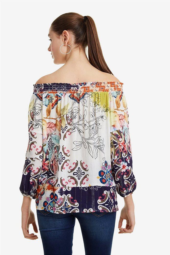40f1d263ba74 Desigual γυναικεία μπλούζα με carmen λαιμόκοψη Ηydra 4