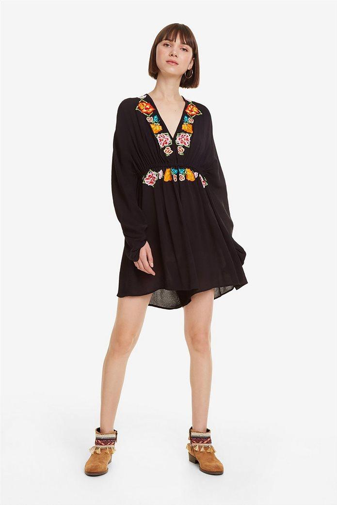 Desigual γυναικεία ολόσωμη φόρμα με κεντήματα Soraya 0
