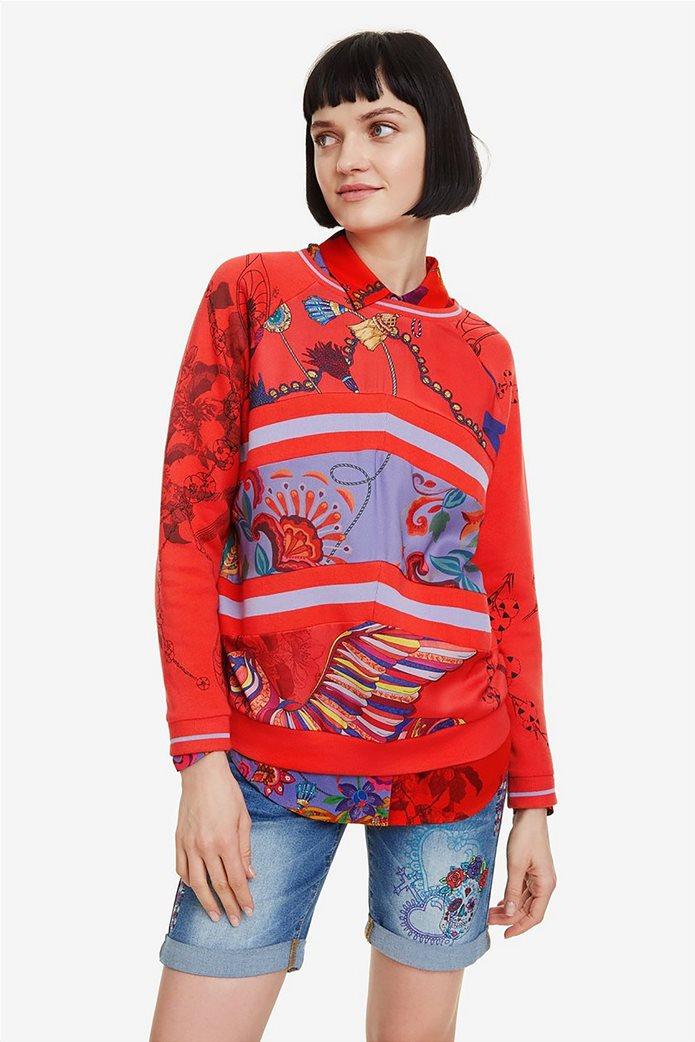 Desigual γυναικείo φούτερ με patchwork Craft 0