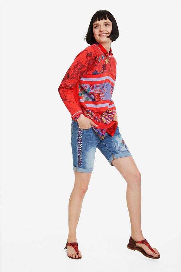 Desigual γυναικείo φούτερ με patchwork Craft 1