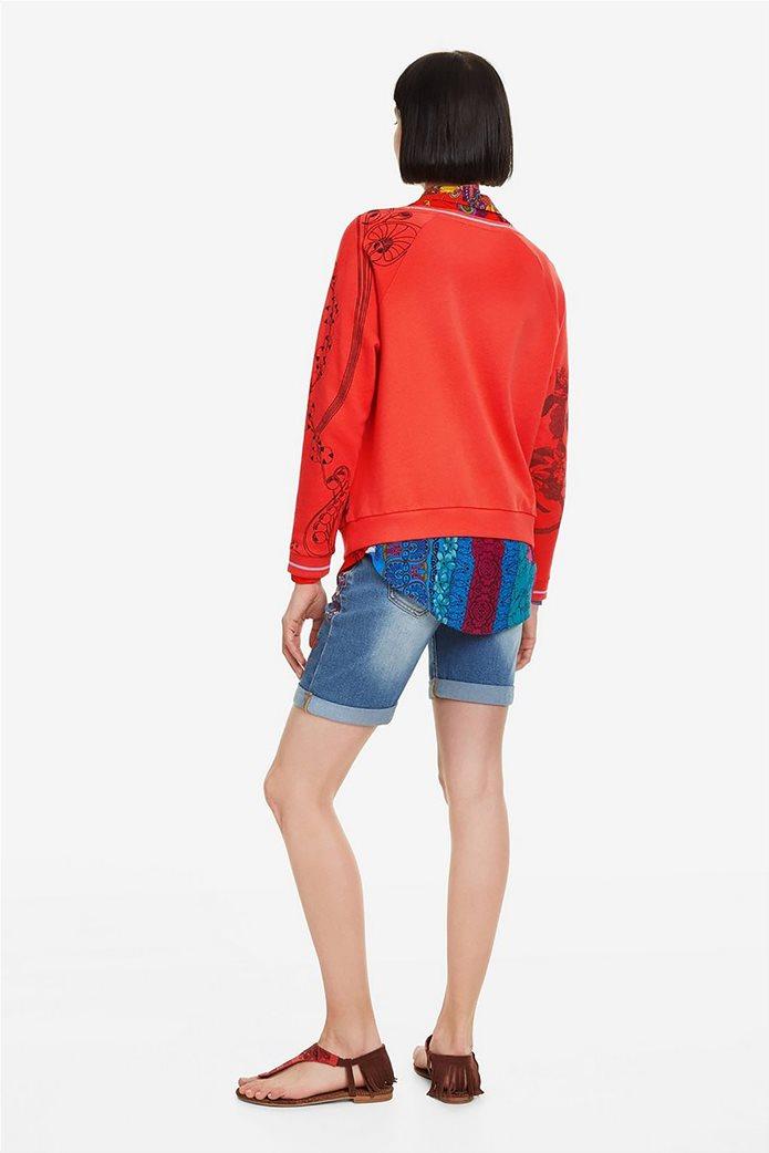 Desigual γυναικείo φούτερ με patchwork Craft 2