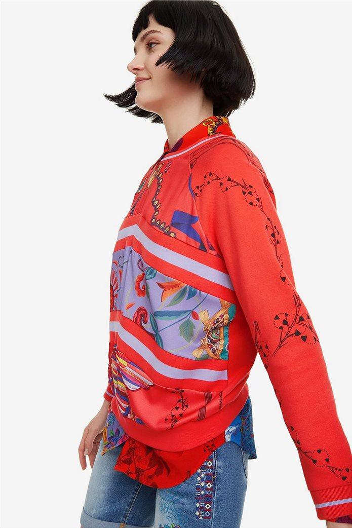Desigual γυναικείo φούτερ με patchwork Craft 4