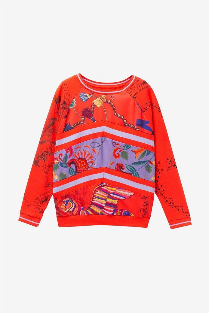 Desigual γυναικείo φούτερ με patchwork Craft 6
