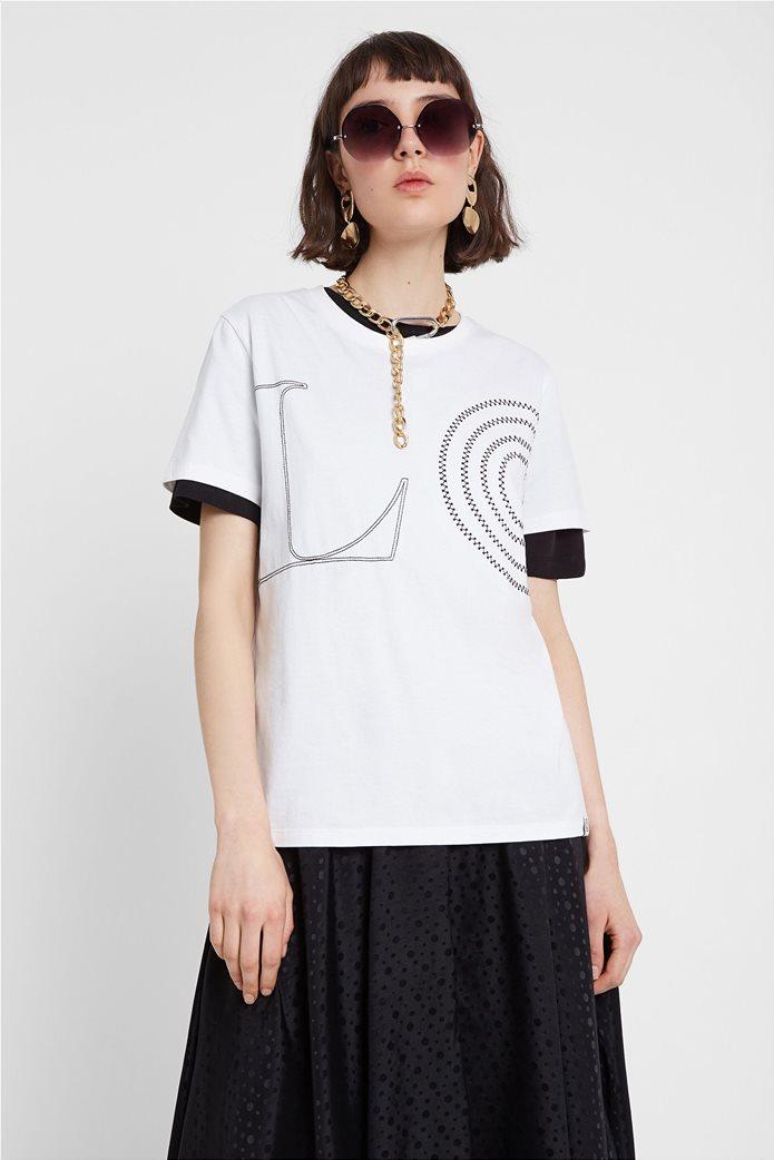 "Desigual γυναικείο T-Shirt ""Paris"" Λευκό 0"