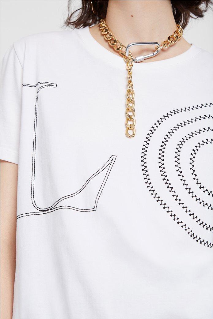 "Desigual γυναικείο T-Shirt ""Paris"" Λευκό 2"