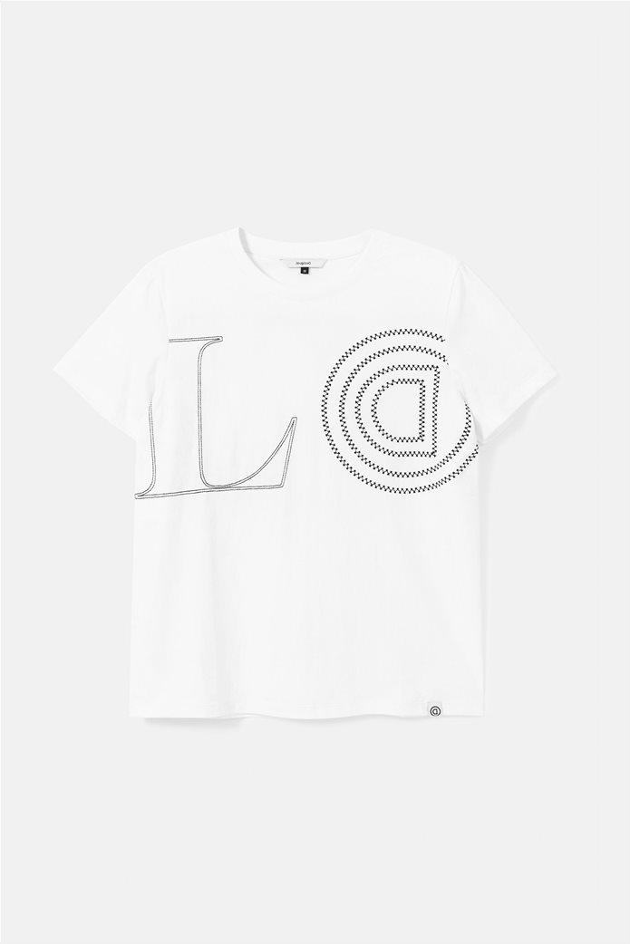 "Desigual γυναικείο T-Shirt ""Paris"" Λευκό 4"