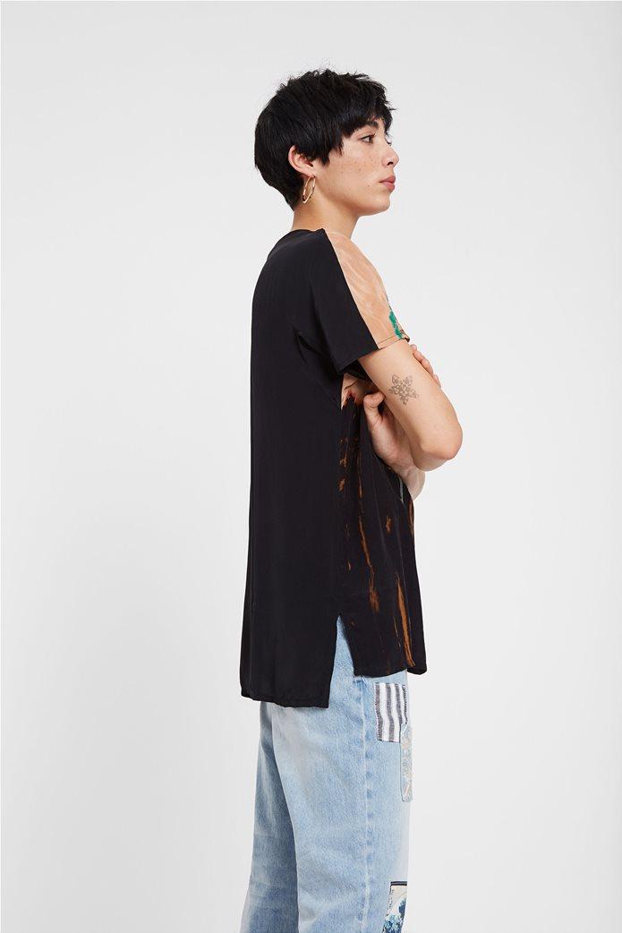 "Desigual γυναικεία μπλούζα με κέντημα ""Αrgos"" 2"