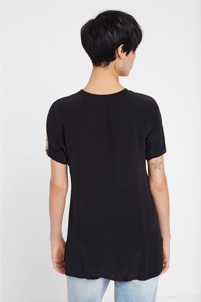"Desigual γυναικεία μπλούζα με κέντημα ""Αrgos"" 3"