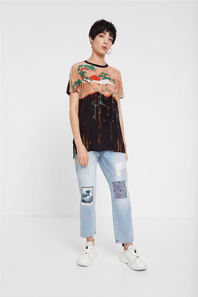 "Desigual γυναικεία μπλούζα με κέντημα ""Αrgos"" 4"