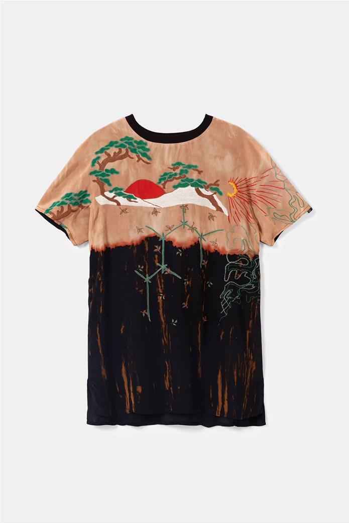 "Desigual γυναικεία μπλούζα με κέντημα ""Αrgos"" 5"