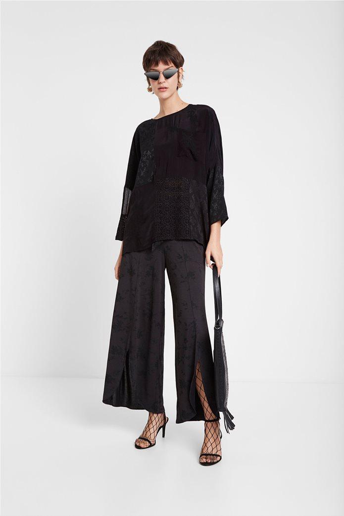 "Desigual γυναικεία μπλούζα με διαφορετικά υφάσματα ""Bari"" 1"