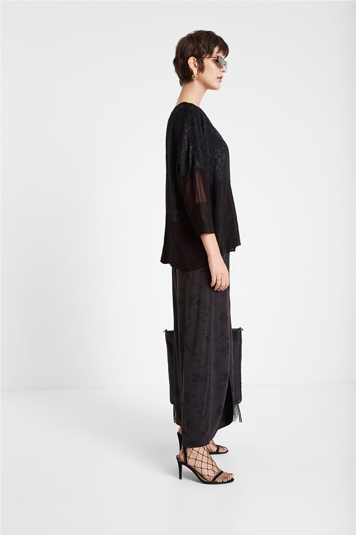 "Desigual γυναικεία μπλούζα με διαφορετικά υφάσματα ""Bari"" 2"