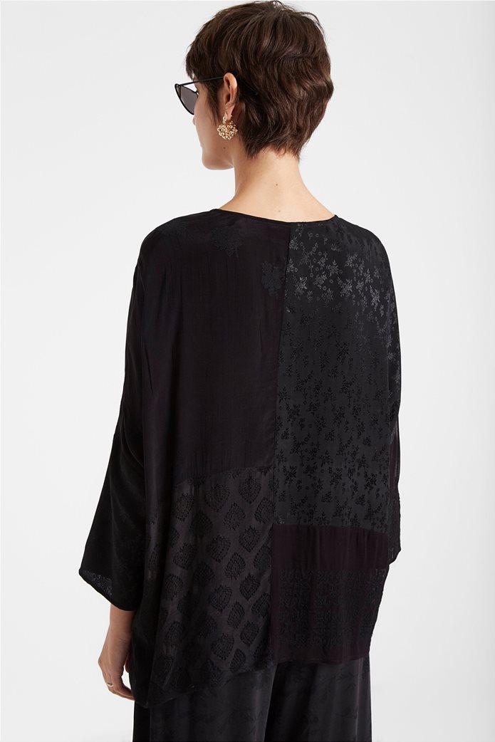 "Desigual γυναικεία μπλούζα με διαφορετικά υφάσματα ""Bari"" 3"