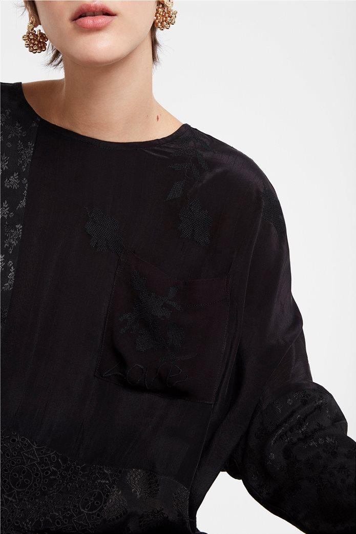 "Desigual γυναικεία μπλούζα με διαφορετικά υφάσματα ""Bari"" 4"